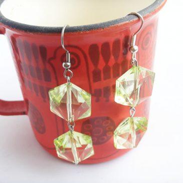 Kristallikorvakorut Vihreä